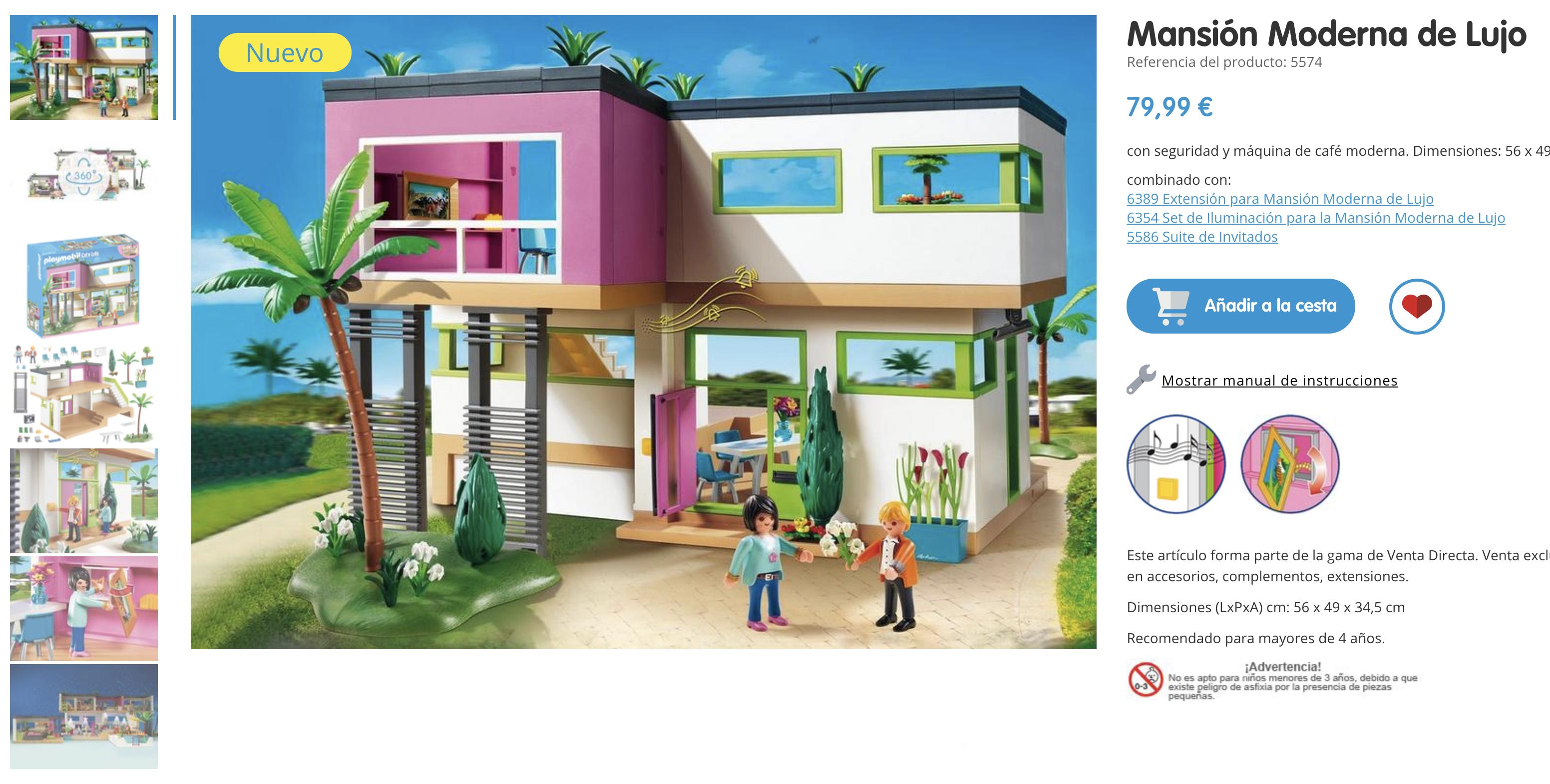 Igo errej n se gasta 79 99 euros en la mansi n moderna for Playmobil casa de lujo